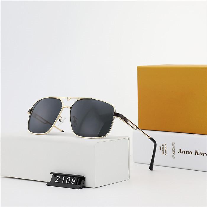 جودة عالية مصمم الأزياء عارضة الرجال الطيار النظارات الشمسية الفاخرة عالية الجودة HD الاستقطاب عدسات مربع القيادة نظارات مع حزمة