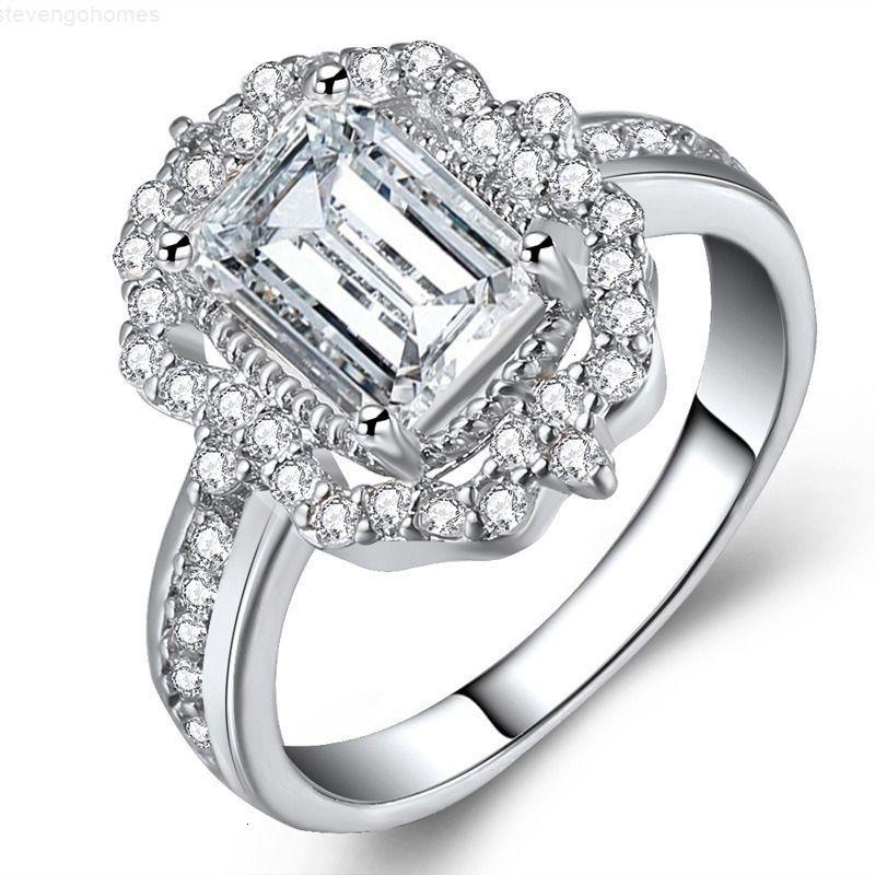 Горячая новая роза-позолоченная зиркона принцесса большая бриллиантное кольцо мода женские ювелирные изделия 2020 кольца