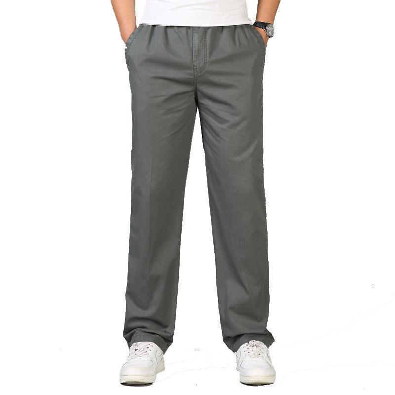 2021 Neue Mode Sommer Männer Casual Cotton Lange Hose Gerade Jogger Male Fit Plus Größe L-6XL Luxus Business Hose Homme Ucac