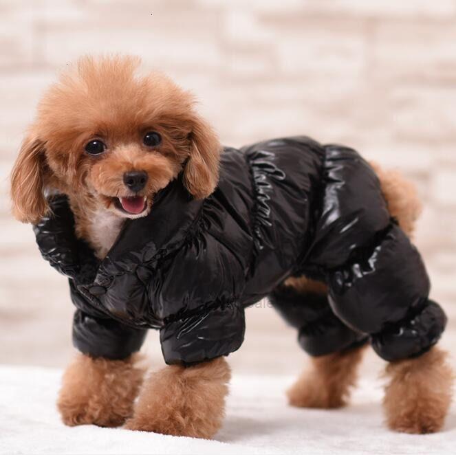 Jacket Pet Dog The Thicken Shiny Dog Windbreak Face Fashion Hip-hop Coat Autumn Winter Sup North Apparel Fashion Brand SXFIQ