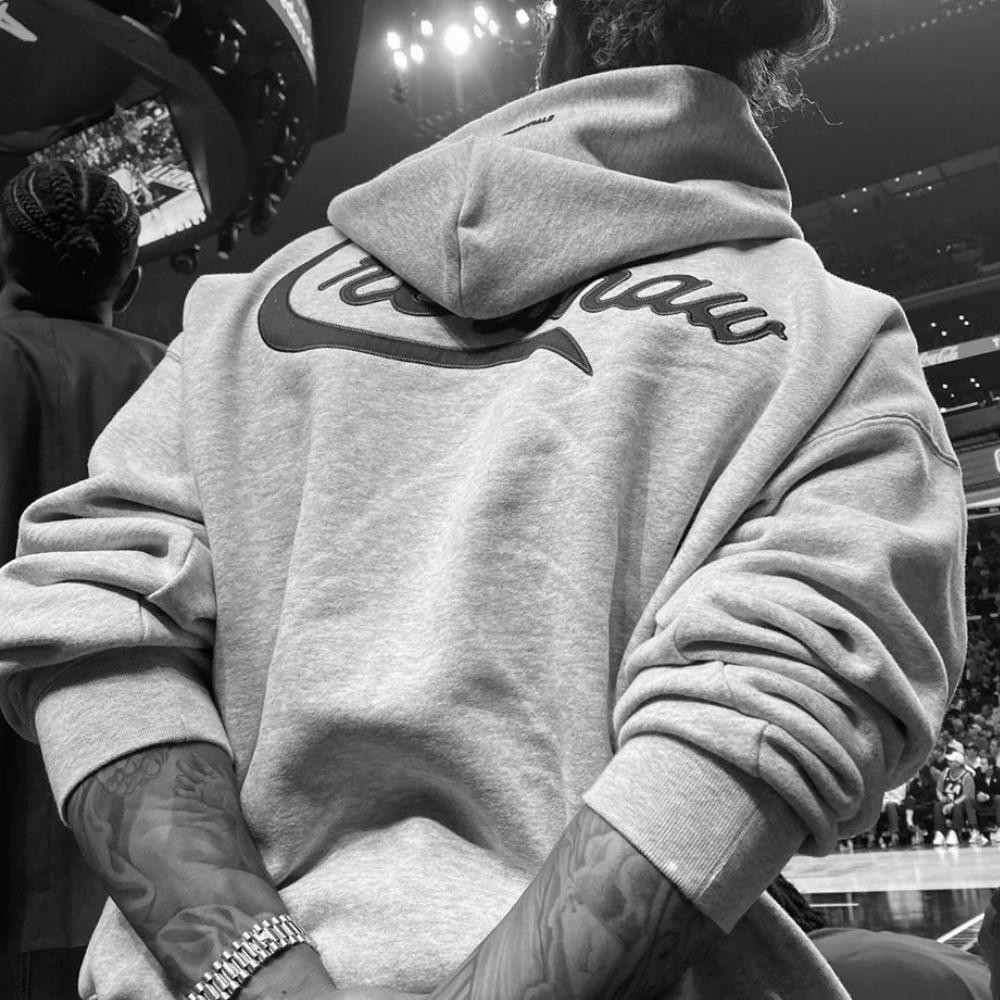 Meilleure version Kanye West Lettre Broderie Oversize Sweat à capuche Hip Hop Raglan Sweatshirt C0228