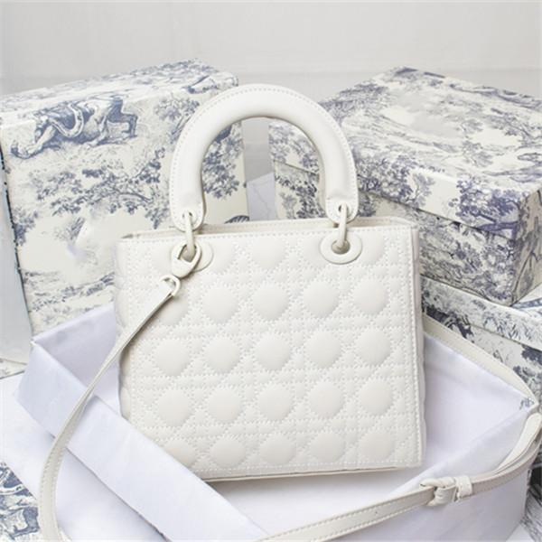 Classic must-have le borse eleganti da donna a spalla alla moda con diamante di diamante con borse in vera pelle multicolor borse a tracolla