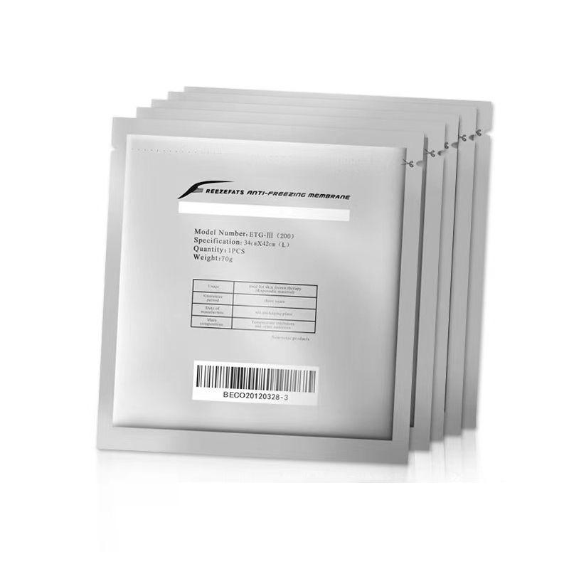 Cryo مكافحة تجميد الأغشية Cryo Cool Pad مكافحة تجميد الغشاء التجمد العلاج بالتبريد 27 * 30CM 34 * 42CM للاستخدام السريرية