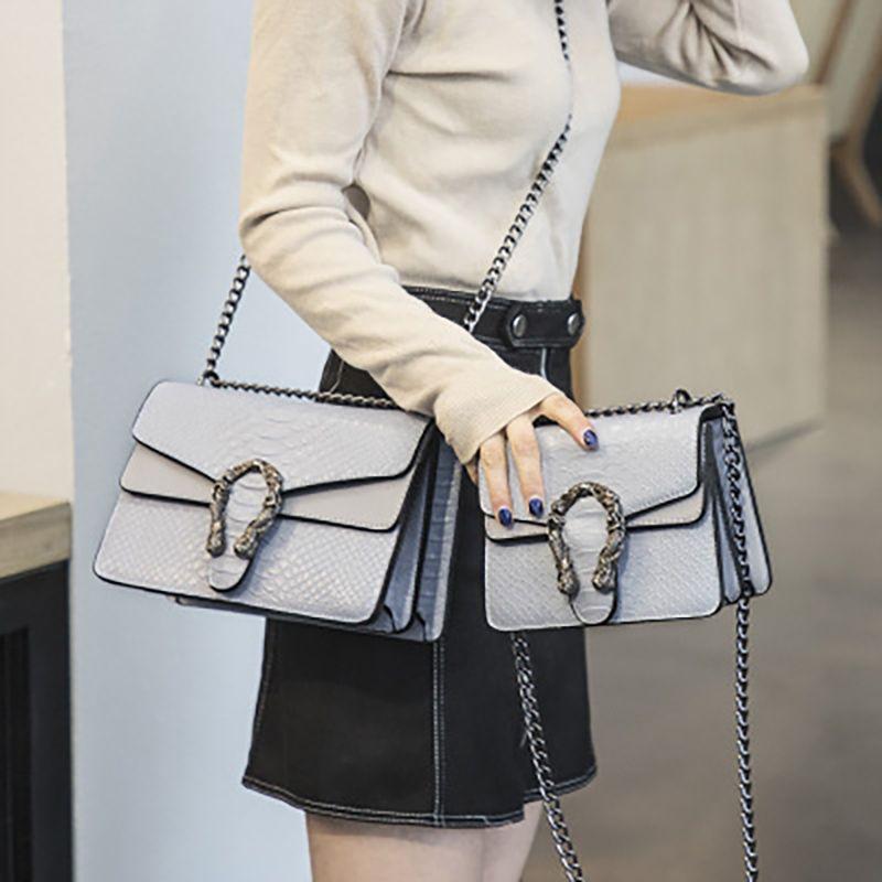 الأفعى الأزياء ماركة المرأة حقيبة التمساح بو الجلود رسول حقيبة مصمم سلسلة الكتف حقيبة crossbody المرأة حقيبة