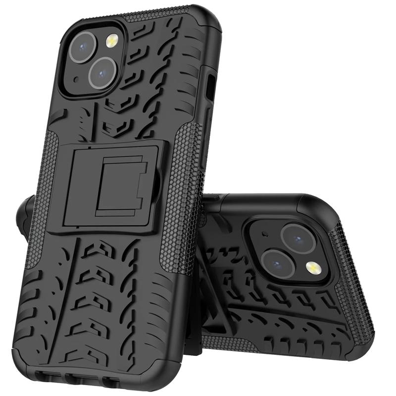 Kickstand Impact Rugged Heavy Duty TPU + PC Hybride Shock Proof Cover Cases voor iPhone XR XS MAX 500PCS
