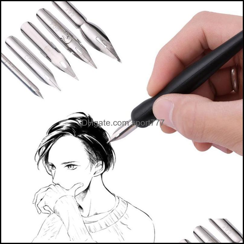 Fountain Writing Supplies Office School Business & Industrialfountain Pens Cartoon Nib Holder Eraser Painting Material Escolar Stationery Se