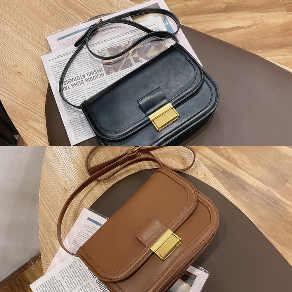 Pequeño diseñador PU Cuero Crossbody Bolsas para mujeres 2021 Hombro Bolsa simple Lady Marca Bolsos de tendencia y bolso C0302