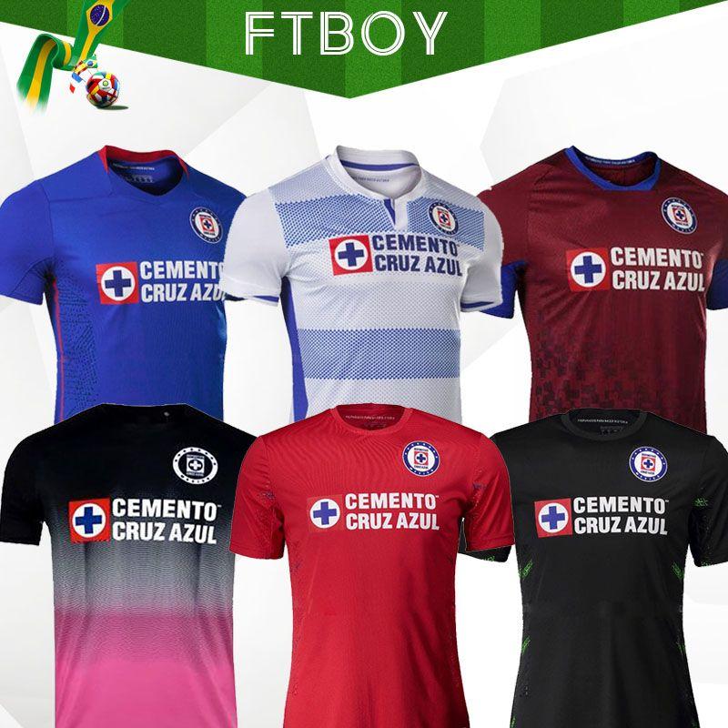 2020 2021 Club Cruz Azul Futebol Jerseys 20/21 Home Away Terceiro Futebol Vermelho Camisas Liga MX Camisetas de Futbol Kit Guarda-se Jersey