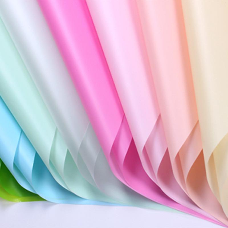 Blume Wickelpapier Massivfarbe Wasserdichte Papier Blumenstrauß Geschenk Verpackung Papier Umweltfreundlich Matte Feste Farbe GWB10508