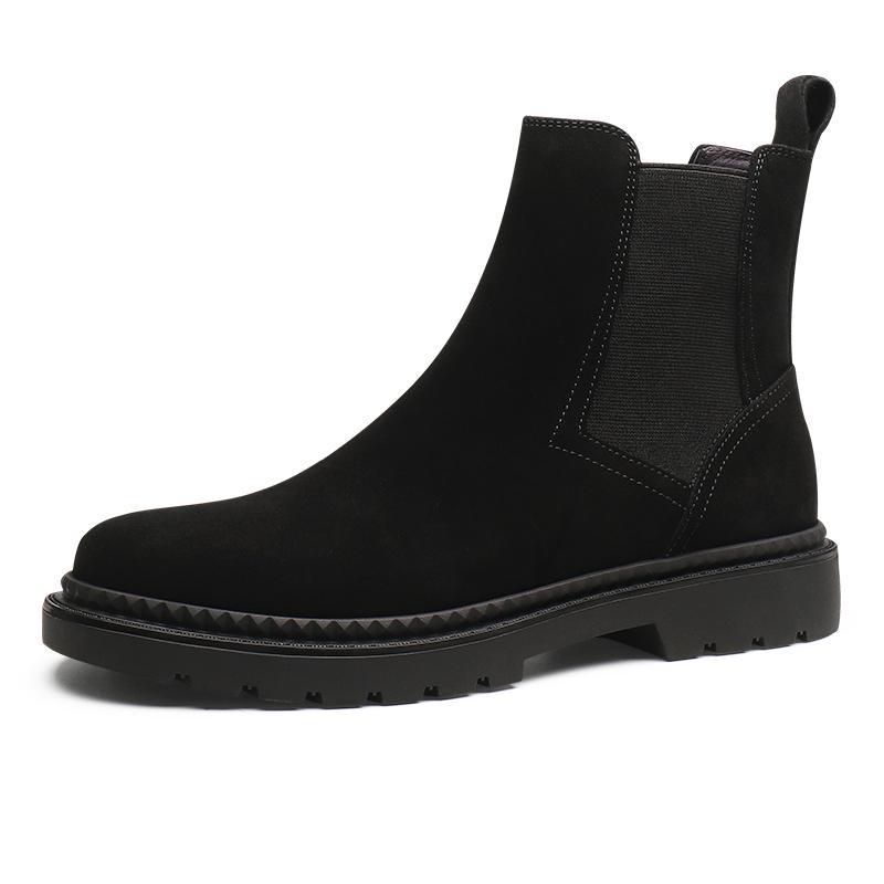 2021 Новая Мода Черный / Серый / Коричневый / Синий Мужская Повседневная Обувь Nubuck Кожаные Сапоги Мужской Лодочки Сапоги