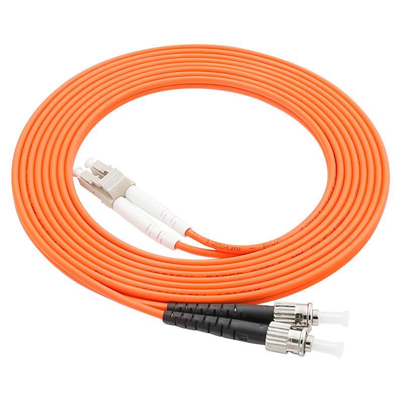 LC / UPC To ST / UPC Fibra Cable Multimode OM1 62.5 / 125UM Cable de canal de fibra 3.0 mm 3 metros Métricos LC-ST Conector Jersey de fibra óptica