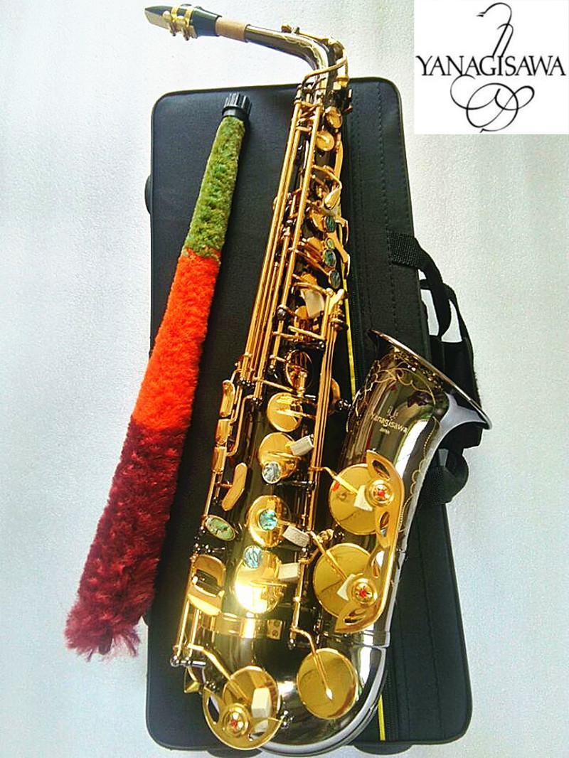 أفضل نوعية Yanagisawa A-991 ألتو ساكسفون E-Flat أسود Golden Sax Alto Holtpiece Ligulature Reed Neck Musical Instruments Accessories