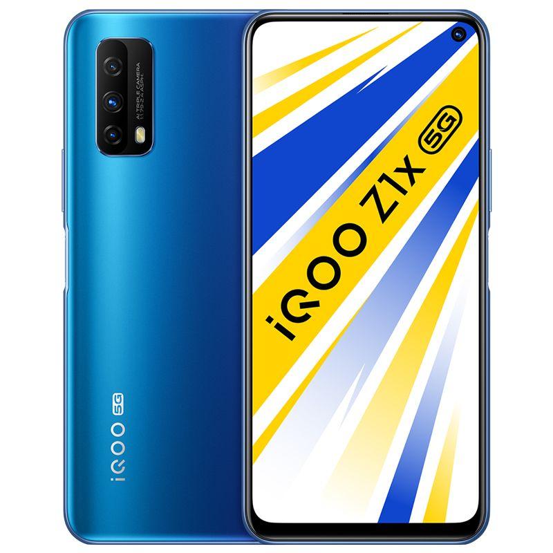 Original Vivo IQOO Z1X 5G Mobile Phone 6GB RAM 64GB 128GB ROM Snapdragon 765G Android 6.57 inch 48MP 5000mAh Face ID Fingerprint Cell Phone