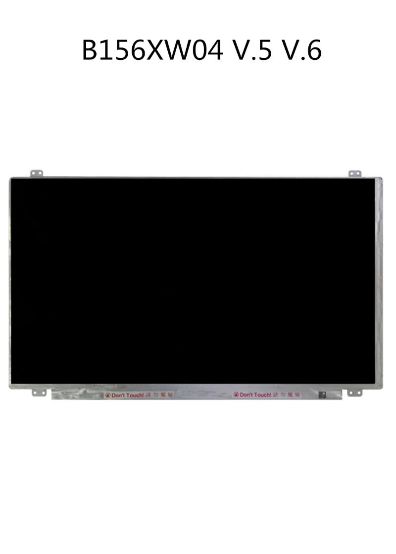 Monitores original B156XW04 V5 V6 Pantalla LCD LCD 15.6 pulgadas 40 PIN para panel de ASUS Lenovo