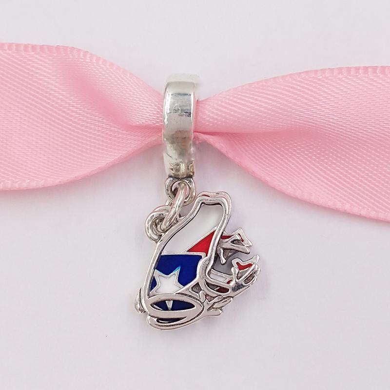 Authentische 925 Sterling Silber Perlen Liebe Puerto Rico Baumeln Charme Charms passt für europäischen Pandora-Stil Schmuck Armbänder Halskette 797855DE16