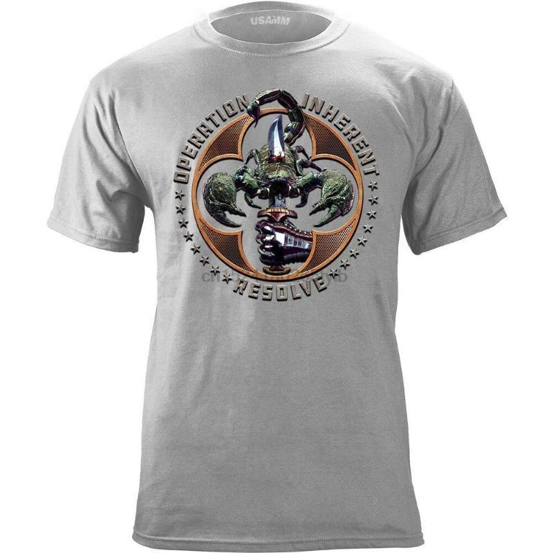 남성용 티셔츠 작동 고유 해결 Scorpion 그래픽 티셔츠