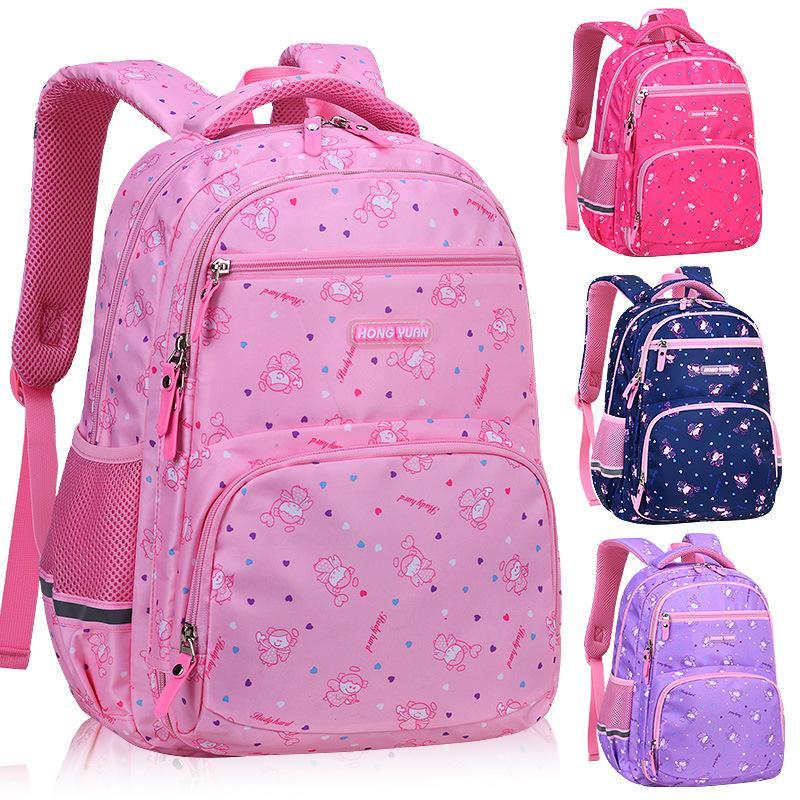 Neue Mode Cartoon Schultaschen Rucksack für Mädchen Jungen Kinder Rosa Orthopädische Rucksack Mochila Infantil Grad 1-5