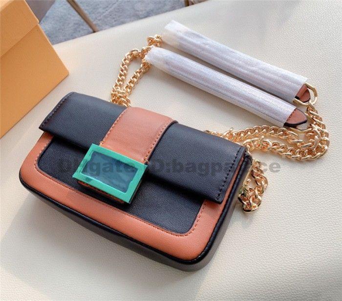 Sacs Mini Designers 2021 Nouveaux Luxurys Sacs à bandoulière High School Sacs Sacs Fille Fille Femme Sac Véritable Sac à rabat en cuir véritable Sac à rabat à deux tons QDGI QDGI