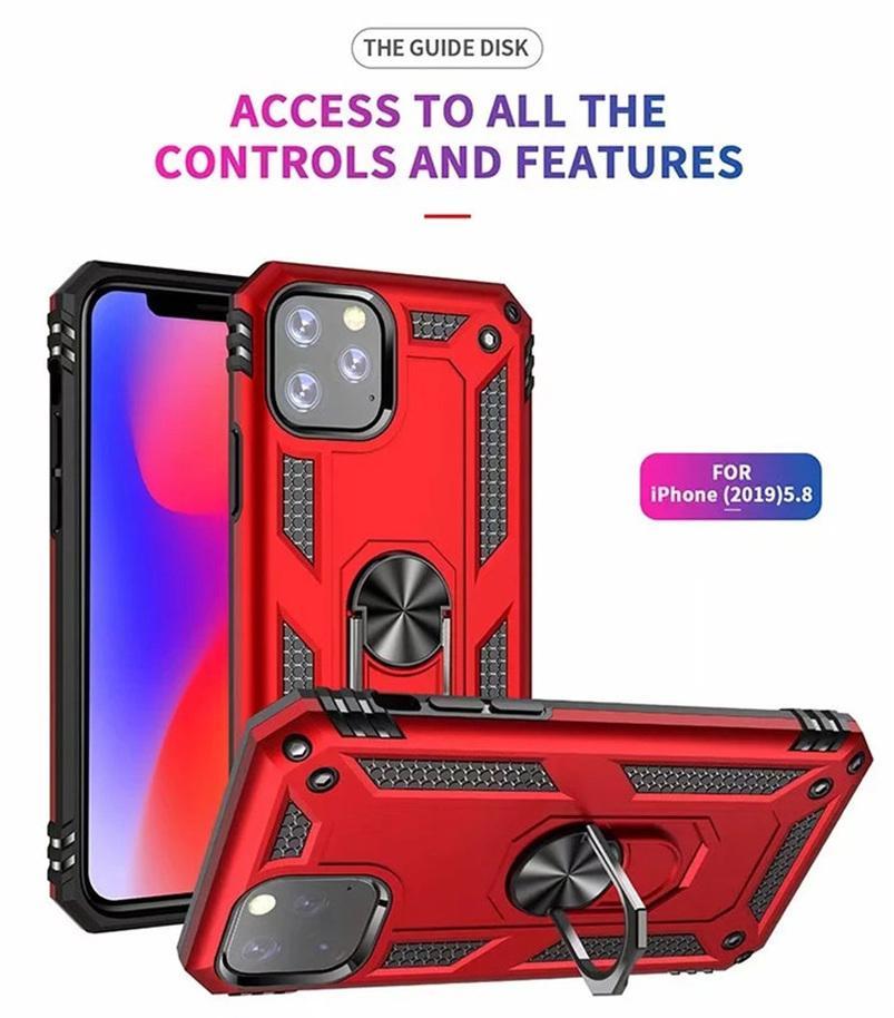 Para iPhone 11 Pro Max 7 8 6s Plus Funda Magentic Anillo Magentic Teléfono de silicona Funda para iPhone X XR XS Max Wholesale