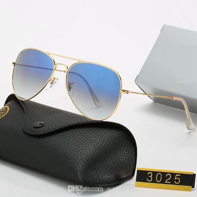 2021 Luxus Polarisierte Sonnenbrille Männer Frauen Pilot Sun Uv400 Eyewear Design Gläser Fahrer Metallrahmen Polaroidobjektiv