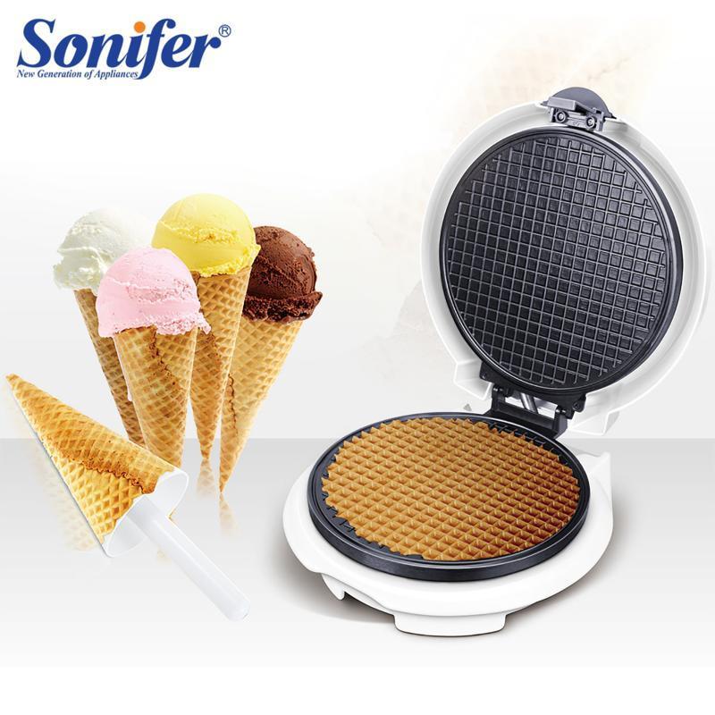 Elektrische Backen Pfannen Ei Roll Maker Knusprige Omelette Form Krepp Pan Pancake Backformen DIY Eis Cream Cone Machine Pie Brat Grill Sonifer