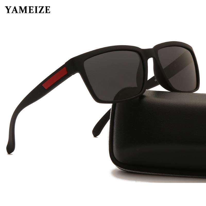 Sonnenbrille Yamze Männliche polarisierte Brille Angeln Eyewear Outdoor Sport Square Retro UV400 Gafas Oculos