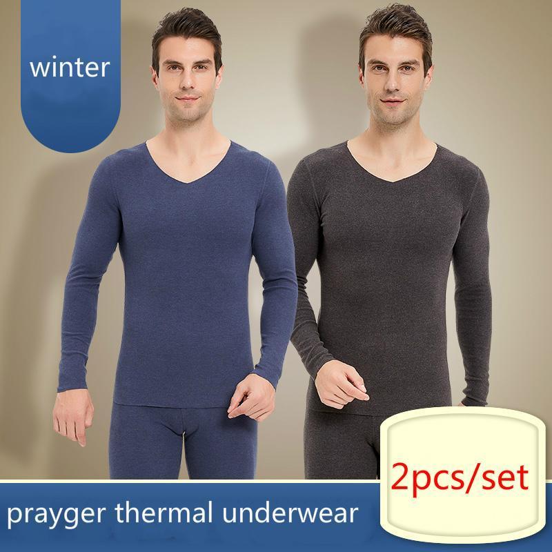 الرجال الملابس الداخلية الحرارية الشتاء الرجال طويل جهونز قمم bottoms غير مرئية الملابس الدافئة الجسم مجموعات