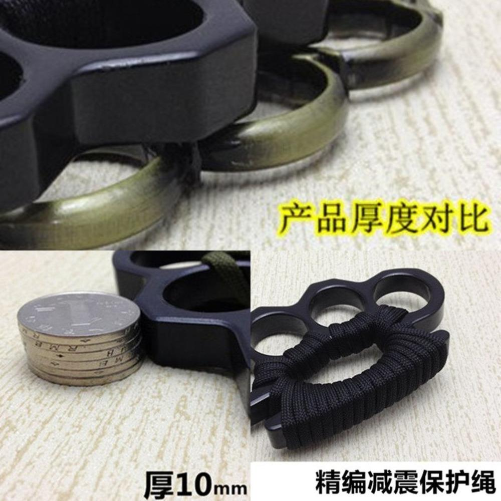 Glass Fiber Tiger Finger Four Hand Brace Clasp Boxing Sleeve Self Defense Weapon Legal Fighting Supplies EUPQ802
