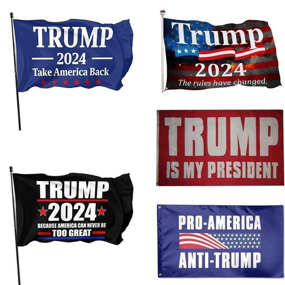 2024 트럼프 플래그 90 * 150cm 미국 대통령 선거 깃발 폴리 에스터 소재 트럼프 2024 플래그 5 스타일