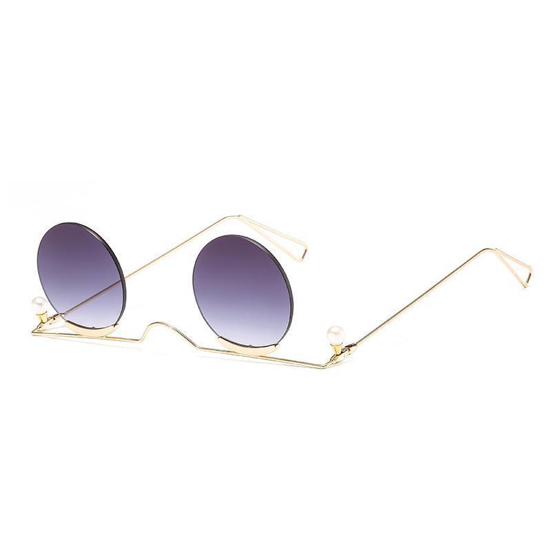 Sunglasses 2021 Small Round Women Men UV400 Metal Designer Punk Sun Glasses Steampunk Vintage Goggles Shades