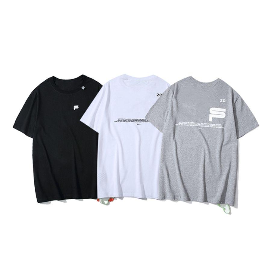 Diseñador Nueva marca de moda camiseta de hombre algodón puro de manga corta de manga transpirable Moda All-Match3h