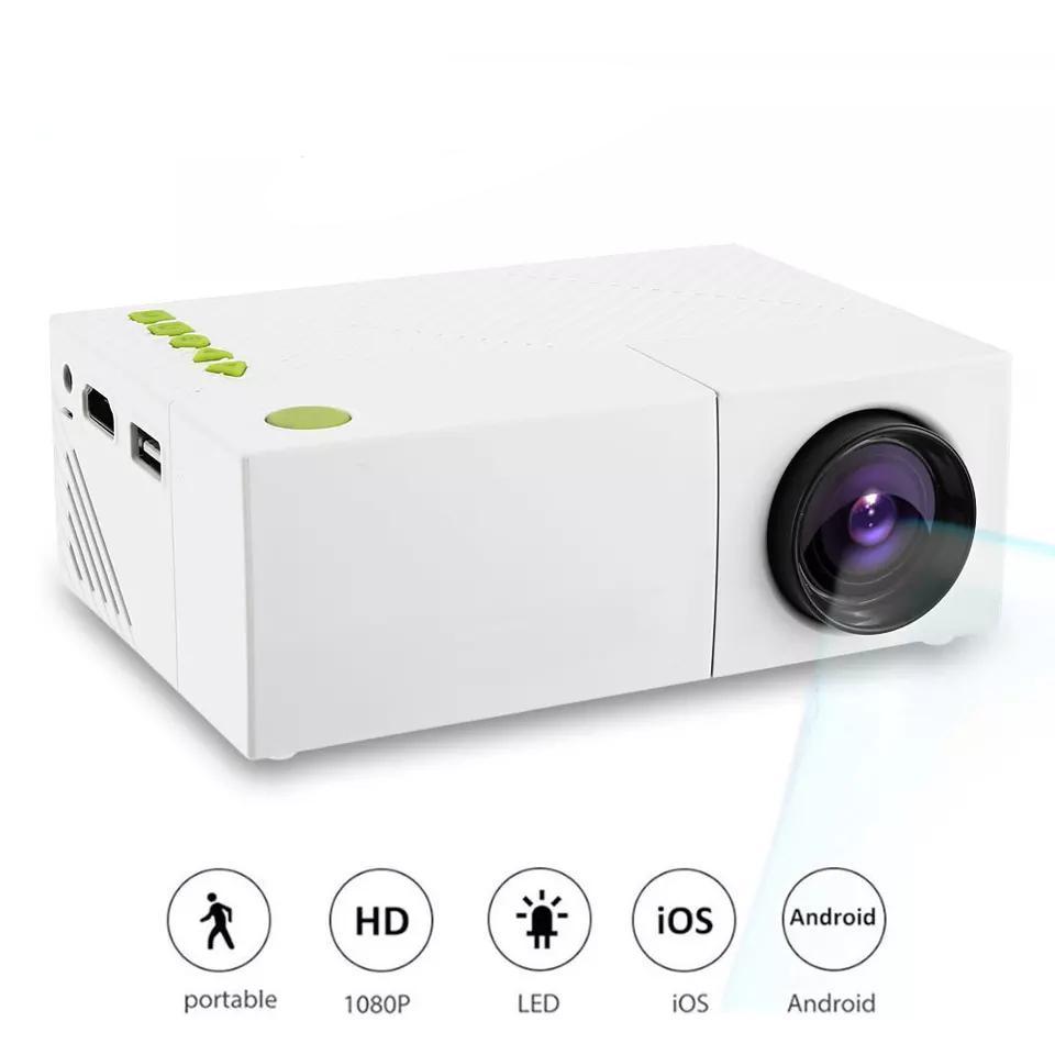 YG310 Mini proyector LCD portátil Proyector de cine en casa USB SD AV 600 LUMENS 1080P HD Beamer LED