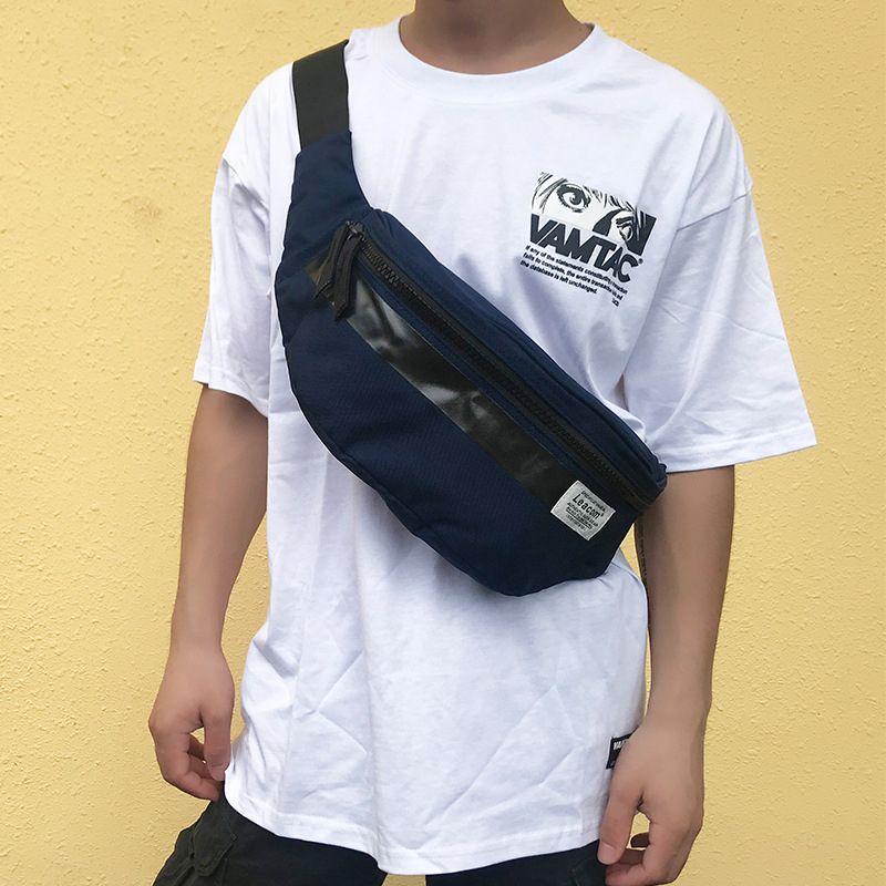 2020New style Waterproof chest bag Korean style shoulder Bag for Men fashion crossbody bags phone Wallet Sports waist bag c271 C0305