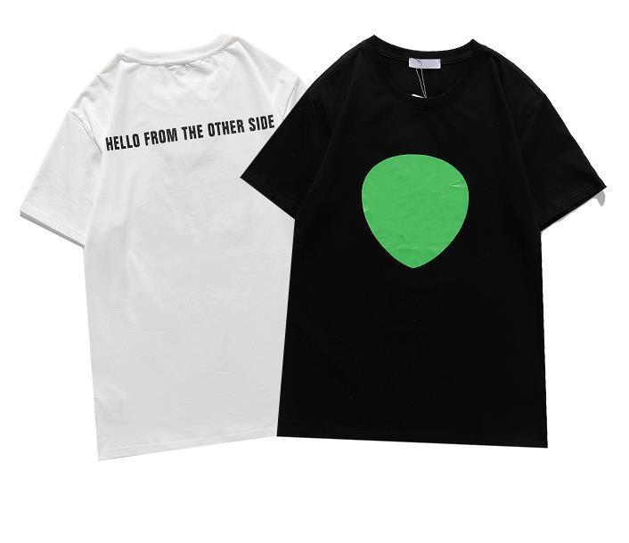2021 여름 패션 디자이너 티셔츠 남성 여성 힙합 클래식 반팔 코튼 편지 녹색 인쇄 티셔츠