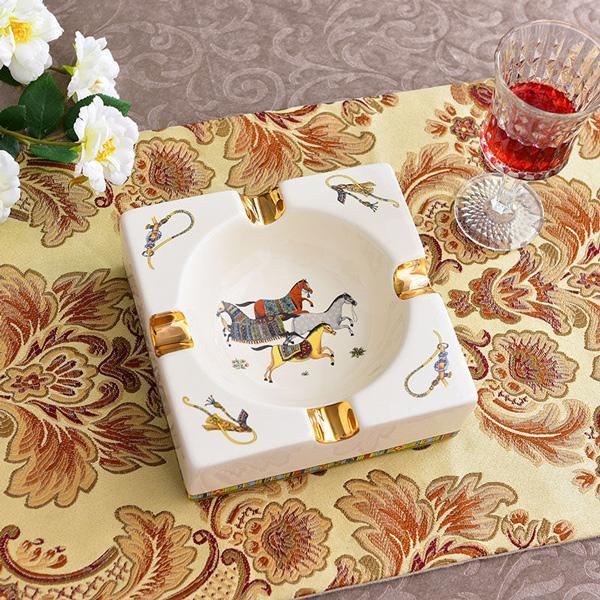 Patrón de cuadrícula de arte cerámico cigarro cenicero agradable lujo humo ceniza bandeja tenedor cigarros casa mesa escritorio accesorios decoración regalos