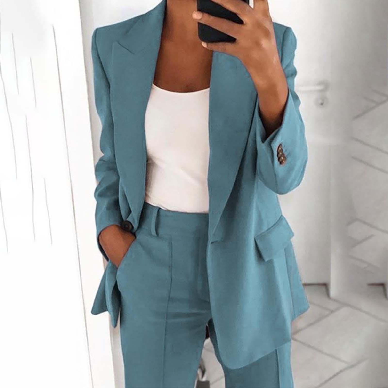 Sommer Frauen Lose Blazer Jacke Top Langarm Lässige Mode Button Solid Jacket Office Damen Elegante Blazer Anzug Mantel