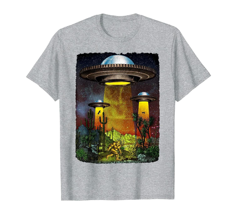 UFO Bigfoot T-shirt Cactus and Desert T-shirt