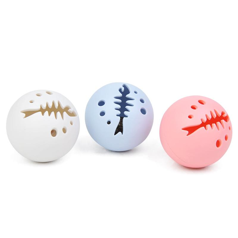 The latest pet cat toy combination fish bone ball (1 set of 3) dog mint bells glow, funny pet supplies, free shipping 118 S2