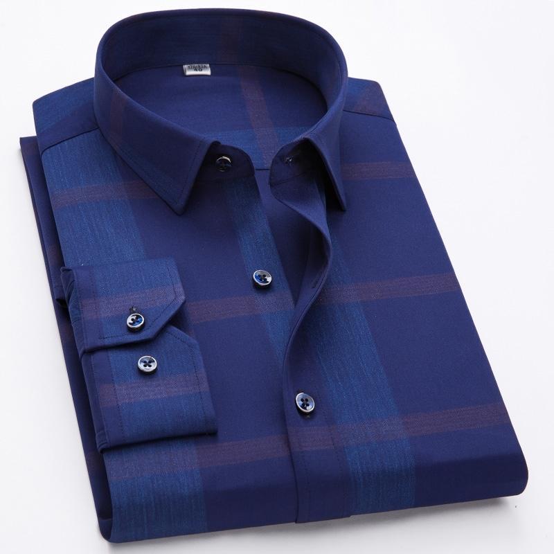 Camisas masculinas 100% algodão mangas compridas camisas casuais masculino novo designer de moda confortável camisa de bronzeada grande formal 210310