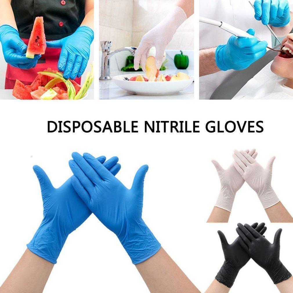 Nettoyage des gants de lavage de laboratoire de laboratoire jetables ménage de lavage 100pcs