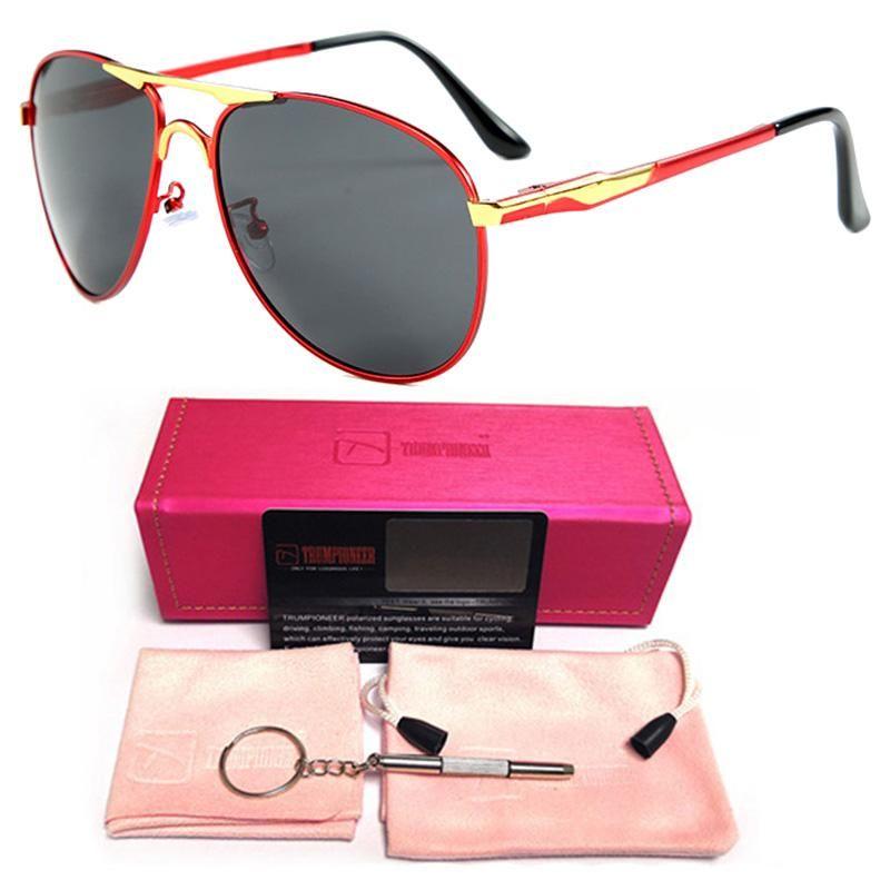 Солнцезащитные очки Pilot Polarized Men Aviation Polariod Sun Glasses Мужской Роскошный Классический Металлический Сплав Сплава Рама Вождение Очки Весенняя нога