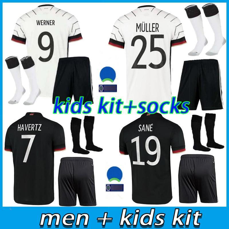 Kids Kids Kits 2021 2022 ألمانيا Soccer Jersey Home Thrmels Kroos Draxler Reus Muller Gotze Kimmich Gundogan 20 21 كرة القدم قميص مجموعة