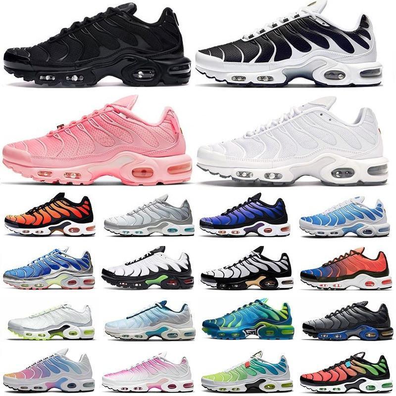 2021 tn plus running shoes men black White Volt Glow Hyper Pastel blue Oreo women Breathable mens sneaker trainer outdoor sport air max  vapormax fashion size 36-46
