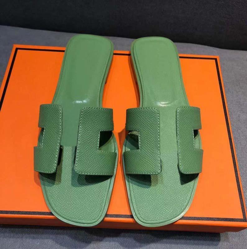 CLASSICS Moda Mulheres Sangres Sandálias Slides Summer Sexy Real Couro Plataforma Flats Sapatos Senhoras Praia Chinelos Home011 32