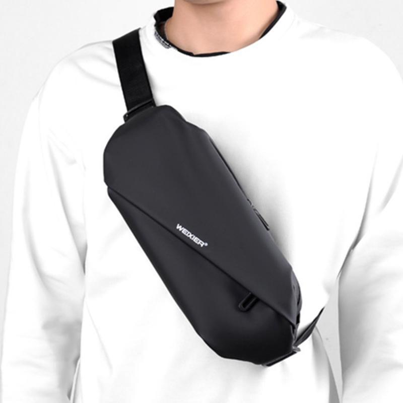 Hombres de moda deportes al aire libre cintura bolsa hombre Messenger bolsas adolescente bolsa de pecho viaje fanny pack impermeable bandolera bolsas