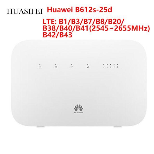 Unlocked Huawei B612 B612s-51d B612s-25d Wireless LTE CPE B612 With Powerful LTE Modem 4g Wifi Sim Card 5 GHz 4*4 MIMO B42/B43