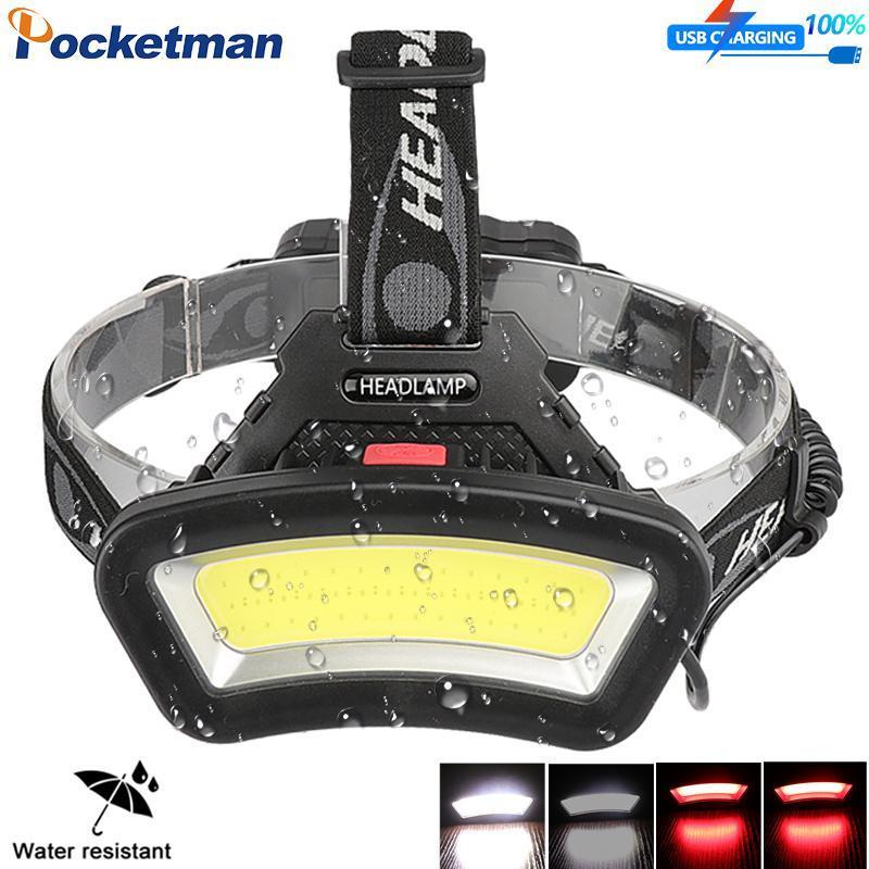 12000LM البوليفيين قوية الصمام كشافات رئيس مصباح USB قابلة للشحن المصباح ضوء الصيد ماء من 18650 بطارية