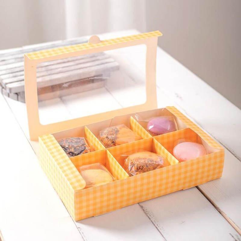 100 шт. Macarons Box Упаковочная коробка Портативный Макарон Контейнеры Корпус для хранения Десерт Магазин Партия Форс