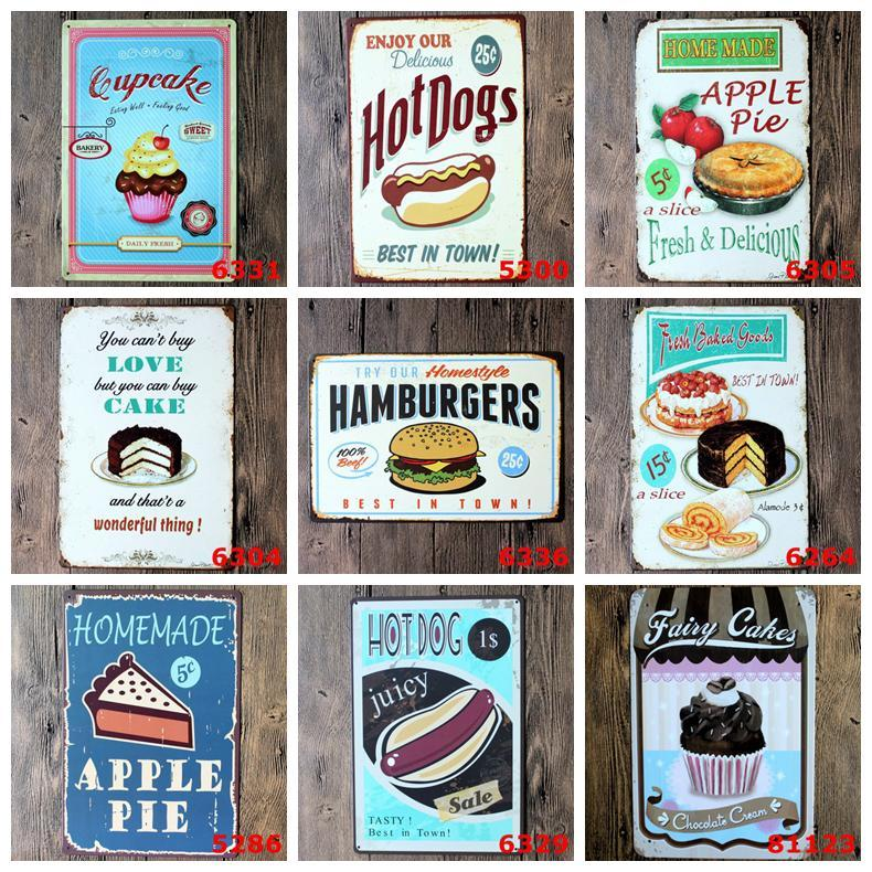 Metal Tin Retro Wall Plaque Sign Paints Art Sticker Iron Painting Home Restaurant Decoration Pub Signs Wall Decor Support Customized LLS588