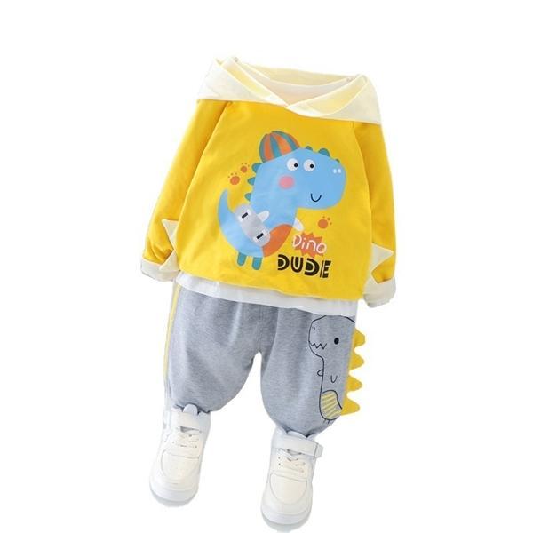 Nouveau printemps automne enfants loisirs vêtements bébé garçons filles mode hoodies pantalons 2pcs / ensembles de costumes enfants chien de dessin animé de bande dessinée C0223